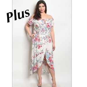 ❌SALE❌ PLUS SIZE Ivory Floral Dress